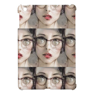 The girl with glasses case for the iPad mini
