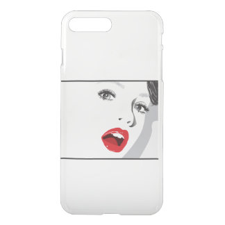 The girl with red lipstick. iPhone 7 plus case