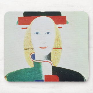 The Girl with the Hat Mouse Pad