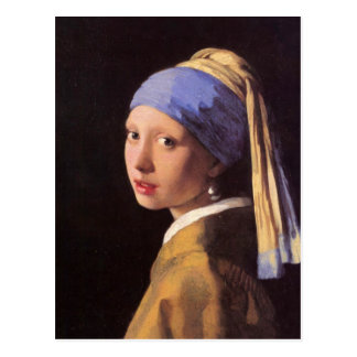 The girl with the pearl earring by Vermeer Postcard