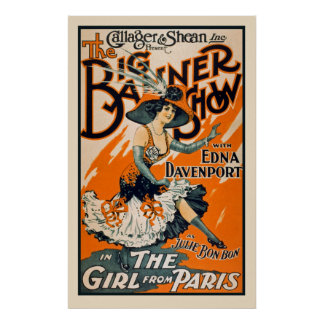 The girls From Paris Vintage Poster