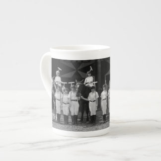 THE GIRLS POLO TEAM 1940s ART DECO PHOTOGRAPH Bone China Mug