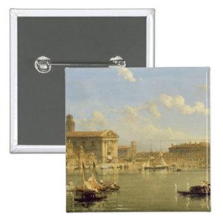 The Giudecca, Venice, 1854 (oil on canvas) 15 Cm Square Badge