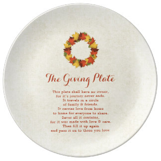 The Giving Plate Autumn Leaves Thanksgiving Wreath