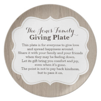 The Giving Plate Pass It on Pay it Forward Name