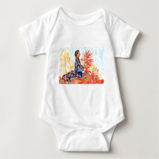 The giving tree a Native American Girl Praying Baby Bodysuit