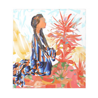 The giving tree a Native American Girl Praying Notepad