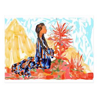 The giving tree a Native American Girl Praying Postcard