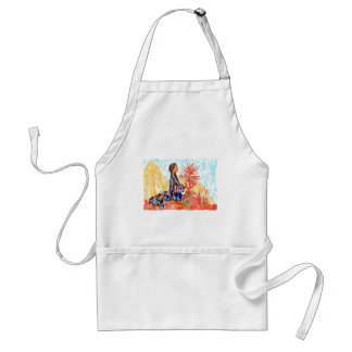 The giving tree a Native American Girl Praying Standard Apron