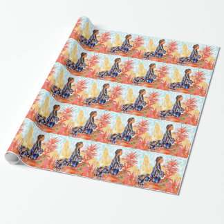 The giving tree a Native American Girl Praying Wrapping Paper