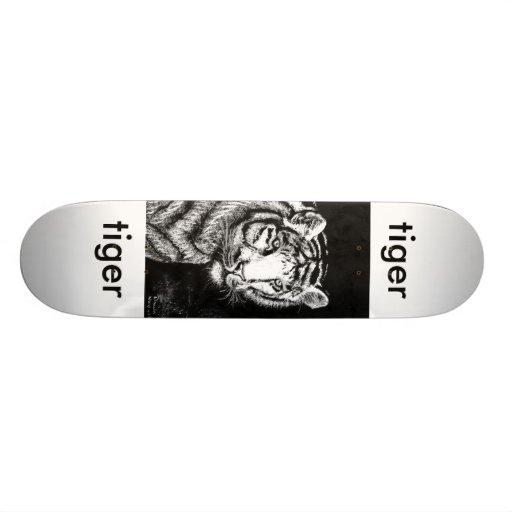 the glare bw, tiger, tiger skate decks