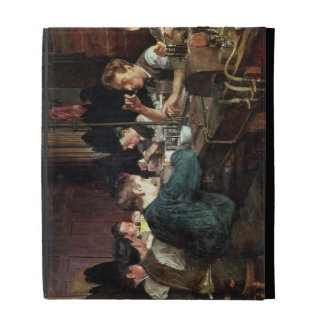 The Glass Blowers, 1883 (oil on canvas) iPad Folio Cases