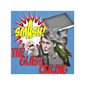 The glass ceiling stretched canvas prints