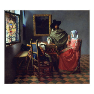 The Glass of Wine by Johannes Vermeer Photo Print