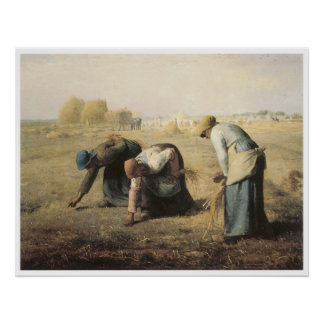 The Gleaners, 1857 Jean-Francois Millet Poster