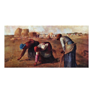 The Gleaners By Millet  (Best Quality) Photo Card Template