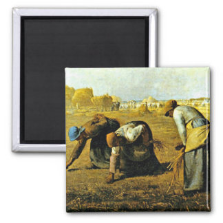 The Gleaners - Jean-Francois Millet Square Magnet