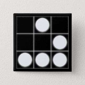 The Glider: A Universal Hacker EmblemButton 15 Cm Square Badge