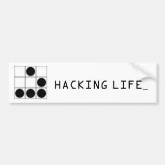 The Glider : Hacker Emblem Bumper Sticker