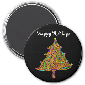 The Glittering Christmas Tree Holiday Magnet