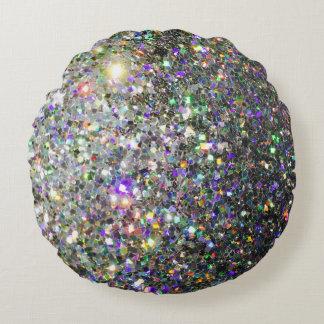 The Glitz Hologram Round Throw Pillow! Round Cushion