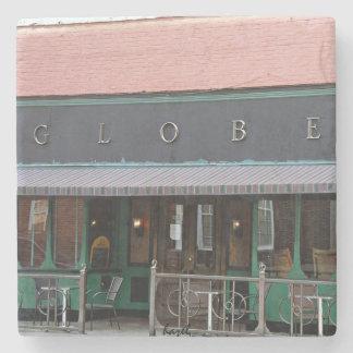 The Globe Athens Georgia Marble Stone Coaster. Stone Beverage Coaster