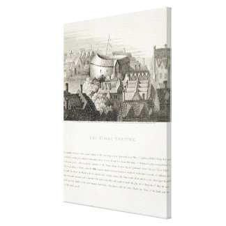 The Globe Theatre, c.1647, published by Robert Wil Gallery Wrapped Canvas