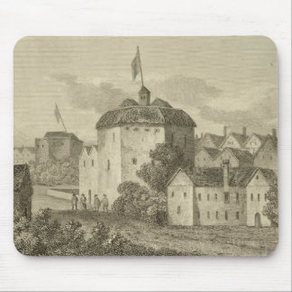 The Globe Theatre on the Bankside as it appeared i Mouse Pad