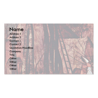 The Gloomy Day (Month Of February Or March) Detail Business Card Template