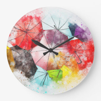 The Glorious Brolly Brigade Large Clock
