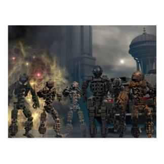 the glorious seven robots b postcard
