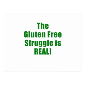 The Gluten Free Struggle is Real Postcard