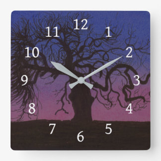 The Gnarly Tree Square Wall Clock