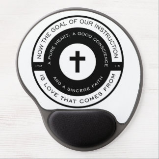 The goal of our instruction, 1 Timothy Scripture Gel Mouse Pad