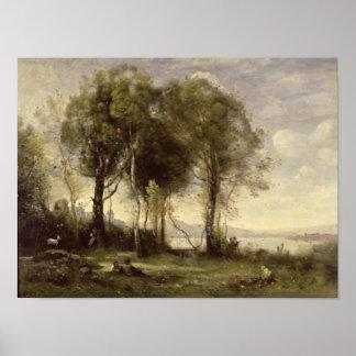 The Goatherds of Castel Gandolfo, 1866 Poster