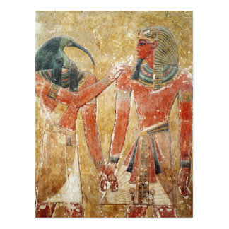 The god Thoth with Seti I  in the Tomb of Seti Postcard