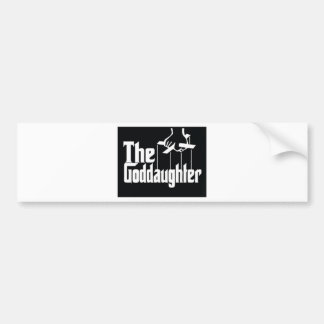 THE GODDDAUGHTER RETRO BUMPER STICKER