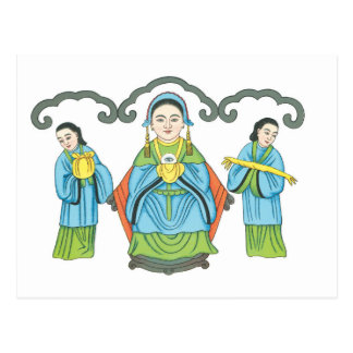 The Goddess that cures eye diseases Postcard