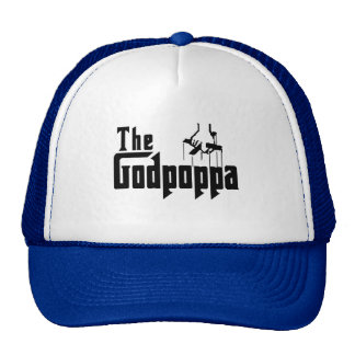 The Godpoppa Fun Father's Day Apparel Mesh Hat