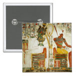 The Gods Osiris and Atum, from Tomb of 15 Cm Square Badge
