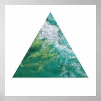 The Gold Coast Ocean (Zen Triangle) Poster