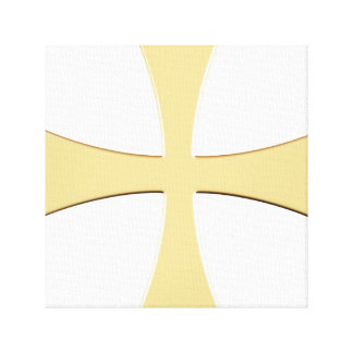 THE GOLD CROSS STRETCHED CANVAS PRINT