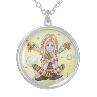 """""""The Gold Fairy"""" cute fantasy art NECKLACE"""