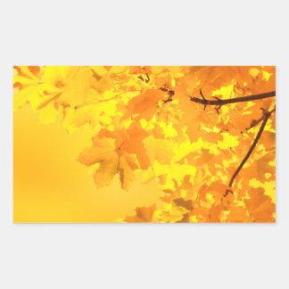 The Gold of Autumn Rectangular Sticker