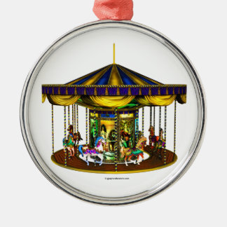 The Golden Carousel Metal Ornament