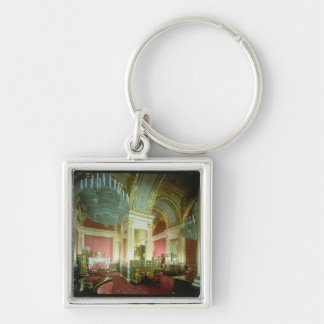 The Golden Chamber of the Tsaritsa Silver-Colored Square Key Ring