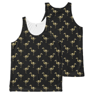 The Golden Flamingo All-Over Print Singlet