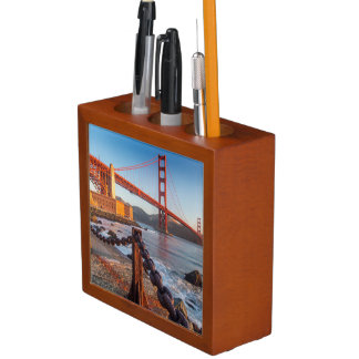 The Golden Gate Bridge From Fort Point Pencil Holder