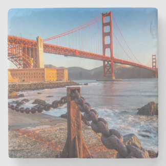 The Golden Gate Bridge From Fort Point Stone Coaster