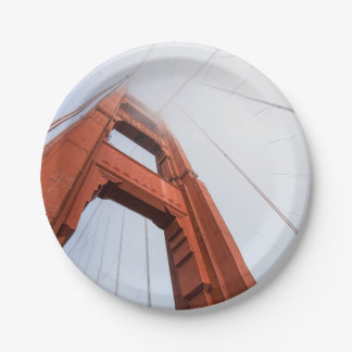 The Golden Gate Bridge Paper Plate